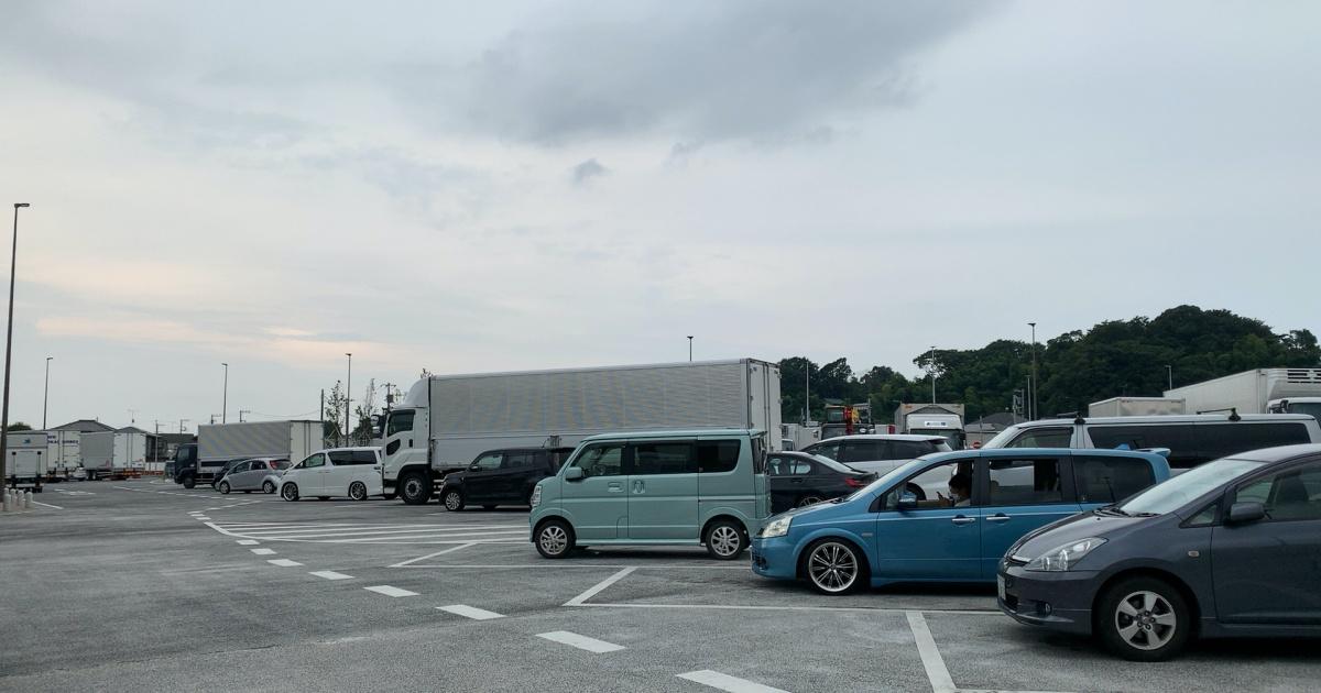 道の駅「いちかわ」の駐車場