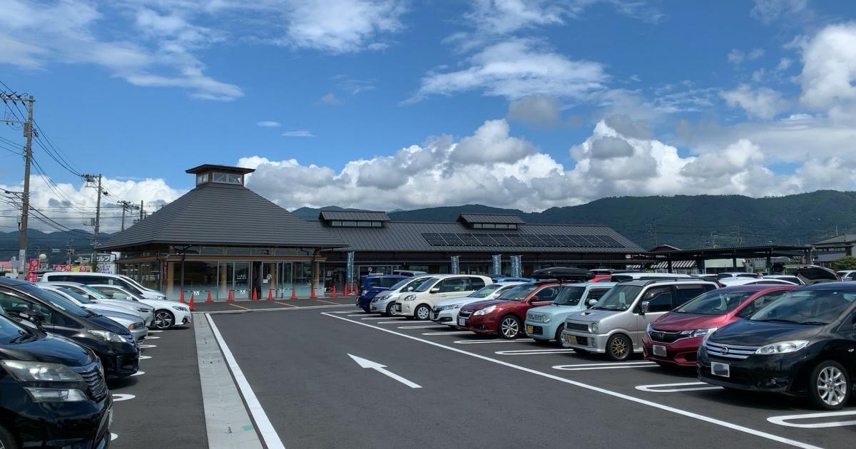 道の駅「足柄・金太郎のふるさと」の駐車場