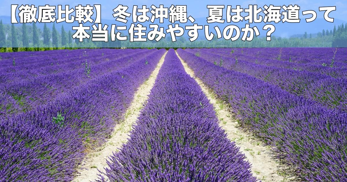 【徹底比較】冬は沖縄、夏は北海道って本当に住みやすいのか?